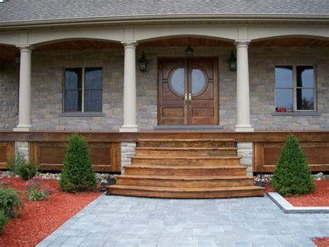 Wooden Front Stairs Design Ideas Wooden Front Porch Steps Designs Studio Design Gallery Best Design