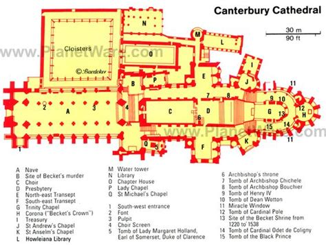 canterbury cathedral floor plan canterbury cathedral floor plan canterbury cathedral map