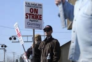 Gormley Plumbing by Local Plumbers Union Pickets Contractor Labor