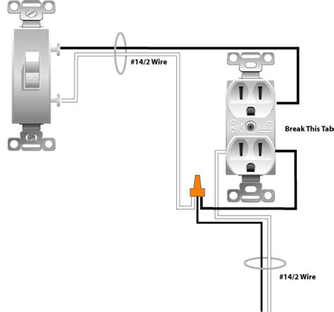 switched outlet wiring diagram wiring a switched outlet wiring diagram power to receptacle electrical