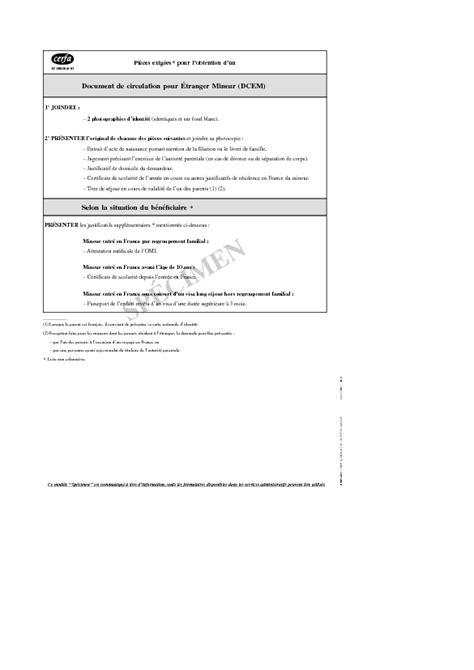 Lettre Motivation Demande Visa Sejour Quot Notice Des Pi 232 Ces Exig 233 Es Pour Le Formulaire Quot Etranger Mineur Demande D Un Titre D Identit 233