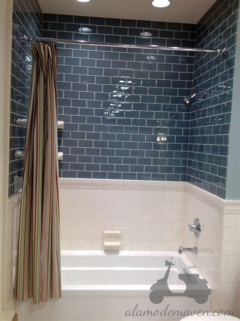 blue subway tile bathroom alamode i m talkin tile carrera marble backsplash tiles