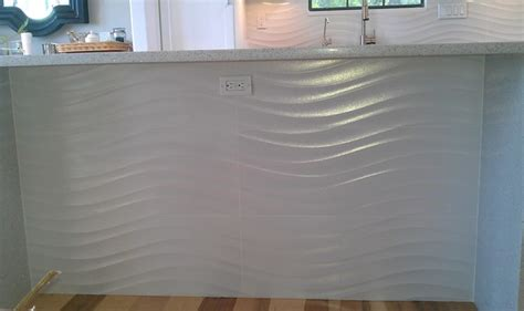 wavy backsplash kitchen backsplash wave panel tile contemporary