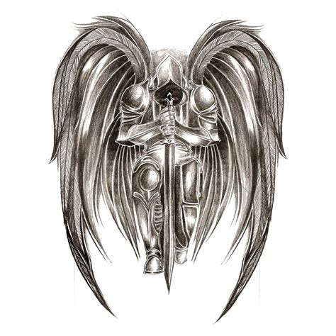 warrior angel tattoo designs angelwarrior 1 jpg 1200 215 1200