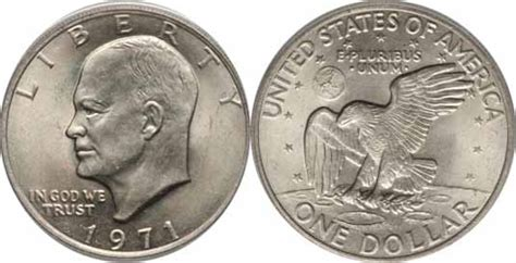 specifications eisenhower silver dollars 1971 eisenhower dollar values facts