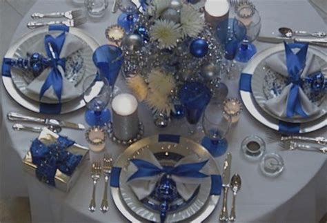 silver and blue table decorations beautiful blue silver table school auction