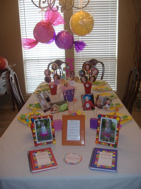 Candyland Table Decorations by Concepts Candyland Crafts