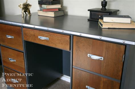restoration hardware executive desk pneumatic addict mr don draper desk with diy hardware