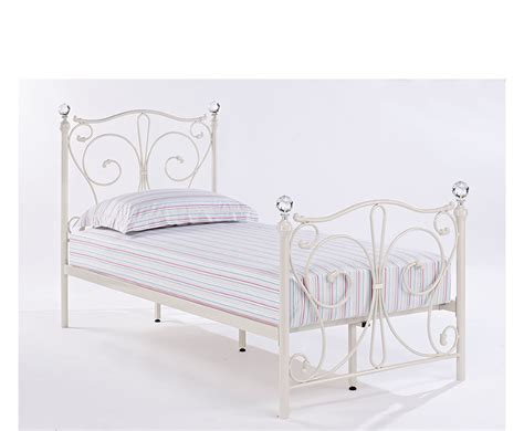 White Metal Bed Frame Empoli White Metal Bed Frame 7 Day Express Delivery