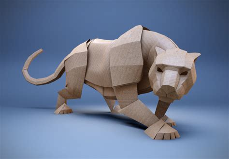 Origami Panther - origami cat by mx on deviantart