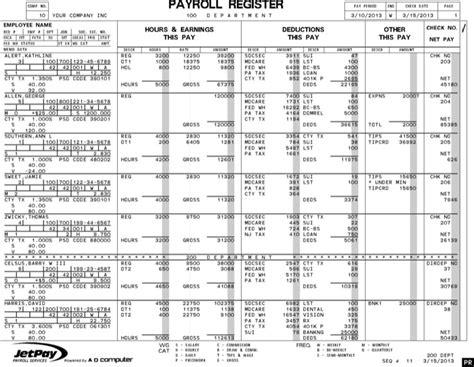 payroll register template payroll register templates free premium