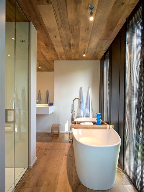 Ceiling And Floor by Bathroom Bath Shower Wood Floor Ceiling Home Addition Southton New York