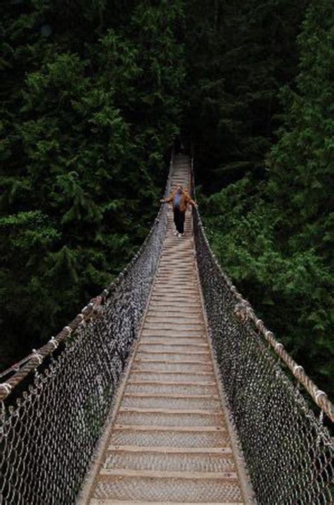 swinging bridge walk a suspension bridge for free in vancouver lynn