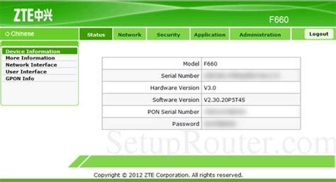 Router Zte F660 setup wifi on the zte f660