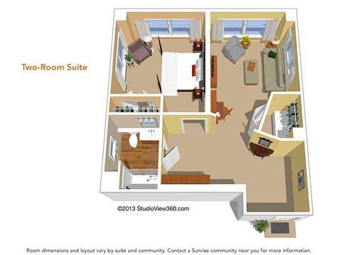 Nursing Home Interior Design by Floor Plans Suites Amp Studios Sunrise Senior Living