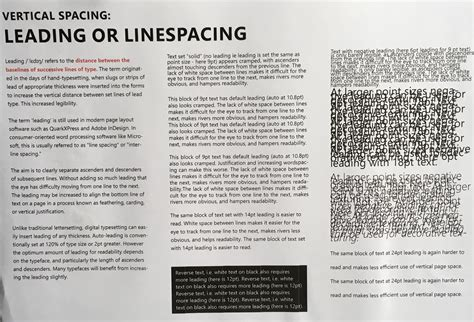 book layout justification vertical spacing linespacing alignment and justification