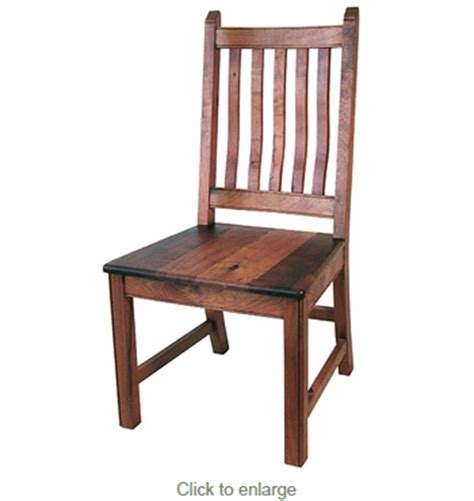 mesquite curved back dining chair