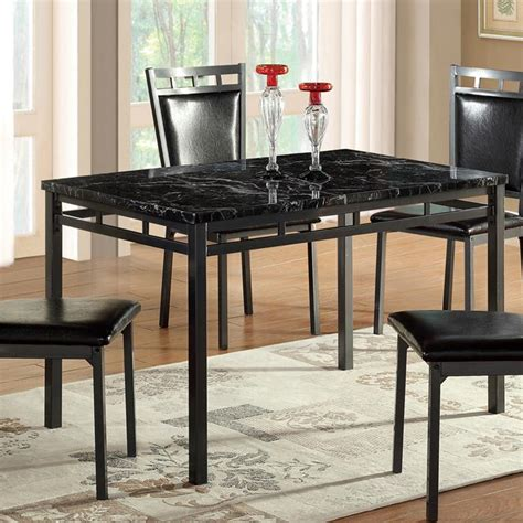 global furniture dining room sets global furniture 5 piece black faux leather dining room