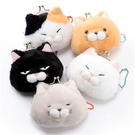 Hige Manjyu Diecut Cat Blankets hige manjyu cat plush mini coin pouches tokyo otaku mode