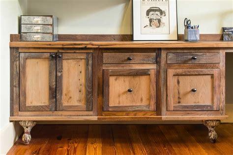 reclaimed skip planed oak furniture rustic home office