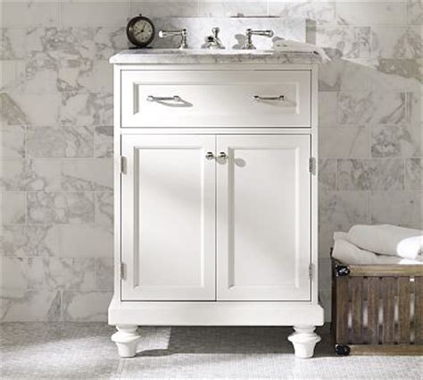 classic white bathroom vanity sink consoles pottery barn decoration news