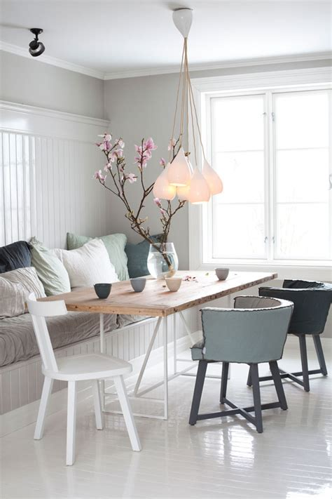 dinning area country style chic white cosy scandi style