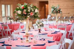 navy and coral wedding centerpieces truly engaging wedding