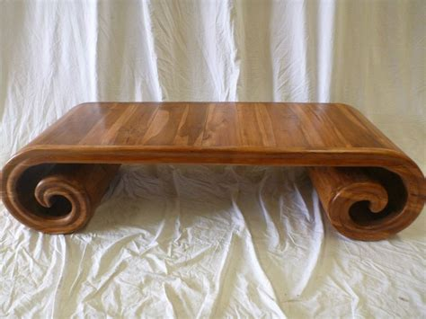 balinese wooden coffee tables balinese furniture timber wooden low scroll coffee table