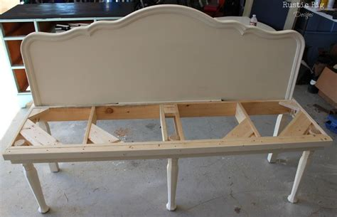 make a bench out of a headboard and footboard headboard bench benches made from headboards create