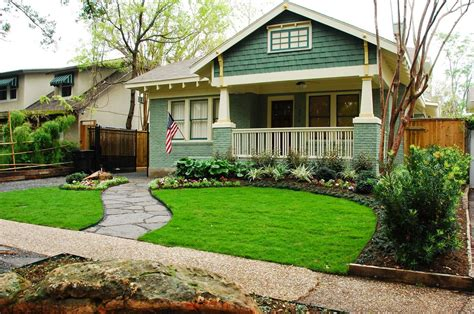 front yard landscaping ideas pictures metal chair white fence stair beside terrace pergola added