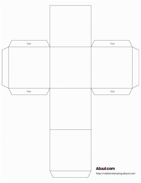 Use This Cube Box To Make Gift Boxes Favors Decorations And More Box Templates Cube And Copyable Resume Templates