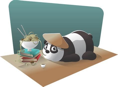Free vector graphic: Panda, Character, Chinese, Noodle