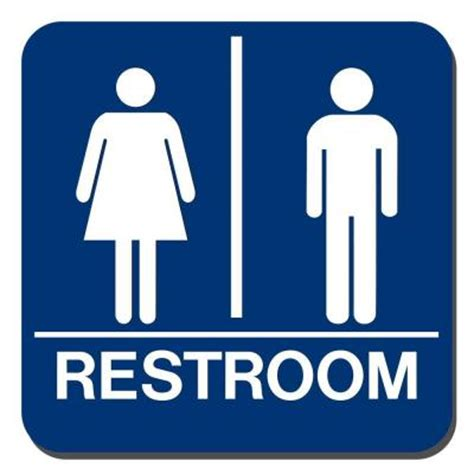 Toilet Bathroom Signs For Home by Lynch Sign 8 In X 8 In Blue Plastic With Braille