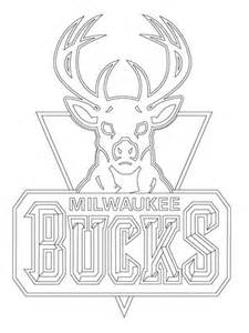 milwaukee bucks logo coloring page  printable coloring pages
