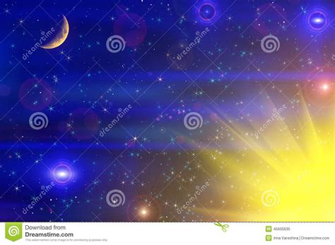 colorful moon wallpaper abstract stars sky moon background stock photo image