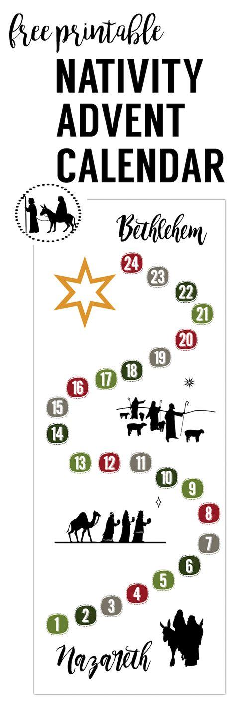 printable advent nativity calendar free advent calendar printable paper trail design