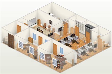 House Plan 888 13 by Zenfolio Harun Wahab 3d Animation Studio Office 3d