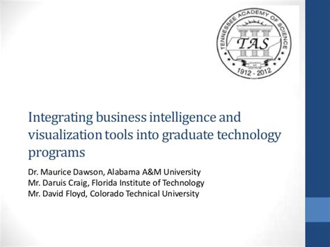 Business Doctoral Programs 2 by Integrating Business Intelligence And Visualization Tools