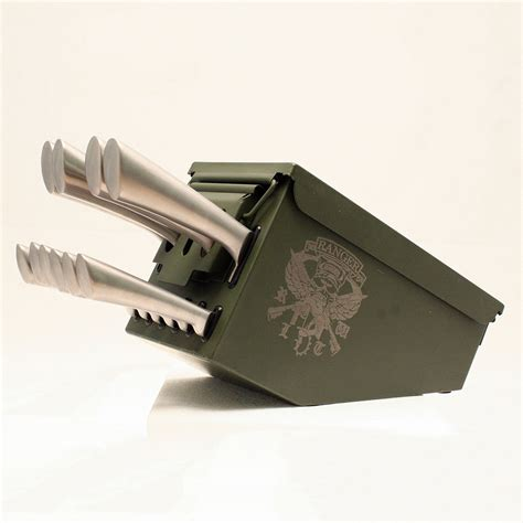 cool knife block ammo box knife block the green head