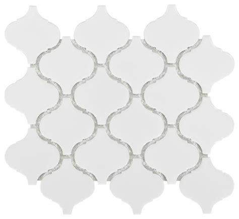 arabesque lantern beacon glossy white porcelain mosaic wall tile mediterranean mosaic tile
