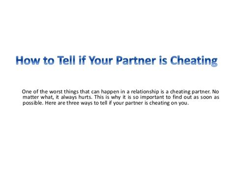 how to tell if your partner is cheating