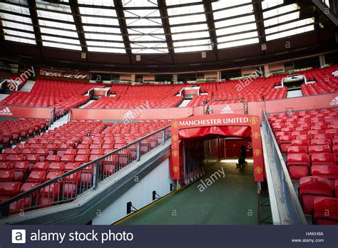 bench trafford centre manchester united stadium tunnel job staff soccer football