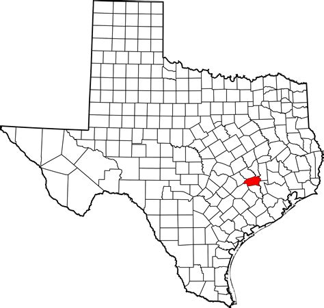 map of washington county texas file map of texas highlighting washington county svg
