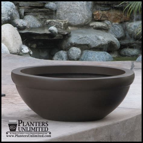 Large Outdoor Bowl Planters by Balboa Low Bowl Commercial Planter Plantersunlimited