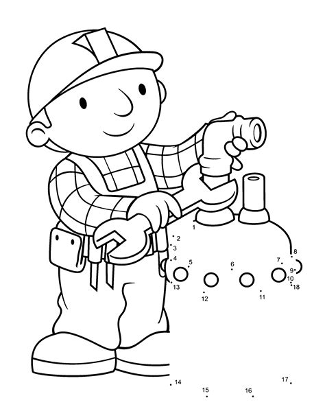 printable coloring pages free printable bob the builder coloring pages for