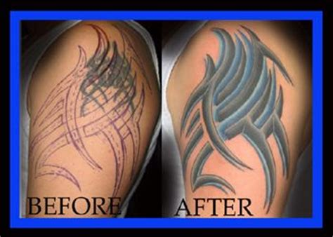 cover up tattoos before and after tribal cover up before