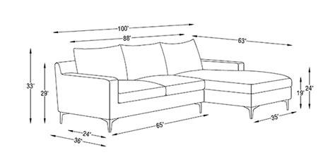 Average Sofa Length Standard Furniture Dimensions Metric