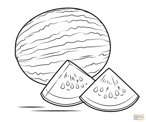 watermelon coloring page watermelon coloring