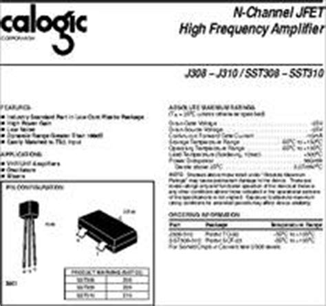 transistor j310 j310 datasheet 25 v n channel jfet high frequency lifier