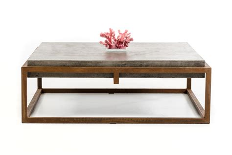 modrest shepard modern concrete coffee table